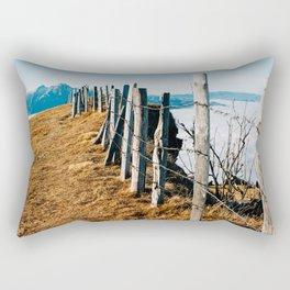 Fence on Mountaintop Rectangular Pillow
