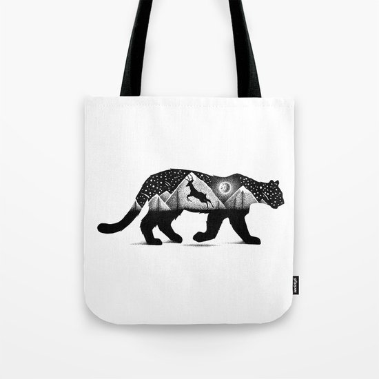 THE MOUNTAIN LION AND THE DEER Tote Bag