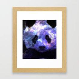 Galaxy Panda Space Colorful Framed Art Print