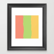 Rainbow Sherbet Framed Art Print