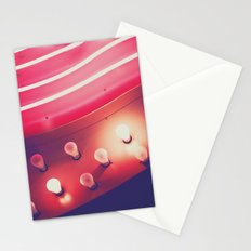 Pink Neon Glow Stationery Cards