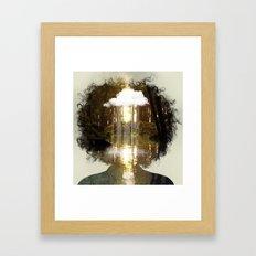 Brain Rain Framed Art Print