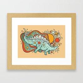 Star Stego | Retro Reptile Palette Framed Art Print