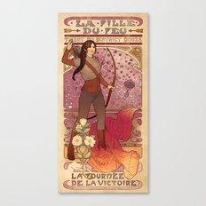 La fille du feu Canvas Print