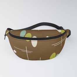 Ovals and Starbursts Colorful 4 Fanny Pack