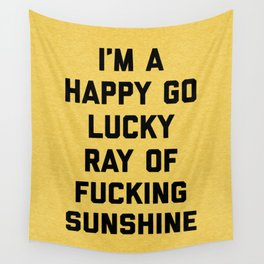 Ray Of Fucking Sunshine Funny Quote Wall Tapestry