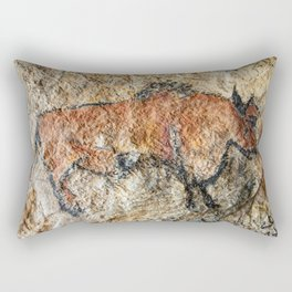Cave painting in prehistoric style Rectangular Pillow