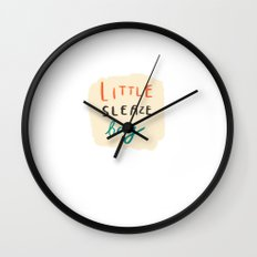 little sleaze bag Wall Clock