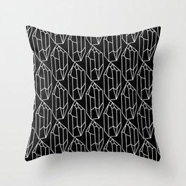 Black Crystal Pattern Throw Pillow