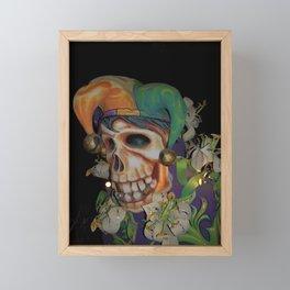 Jester Skull Carnival Framed Mini Art Print
