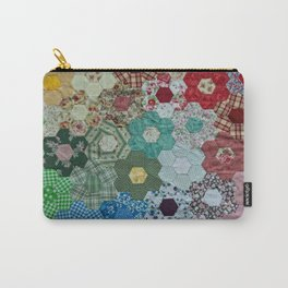 patchwork-design Carry-All Pouch