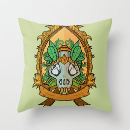 Plume skull x1 emblem Throw Pillow