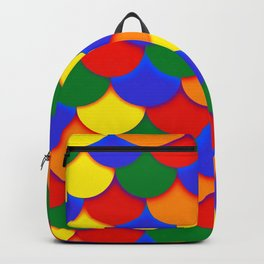 Gay Pride Scalloped Scales Pattern Backpack