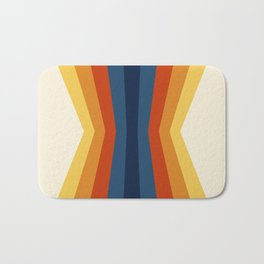 Bright 70's Retro Stripes Reflection Bath Mat
