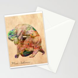 male nude body  Stationery Cards