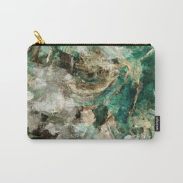 Teal Contemporary and Abstract Painting Carry-All Pouch