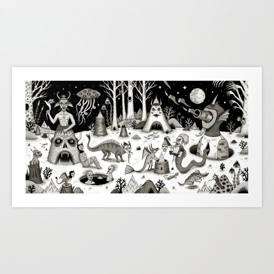 A Grim Hereafter Art Print