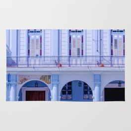 Colonial Building in Old Havana Cuba Rug