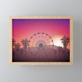 Festival Inspired Sunset Framed Mini Art Print