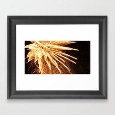 Fire burst Framed Art Print