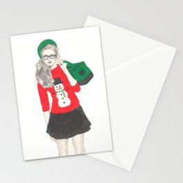Christmas Fashion Stationery Cards