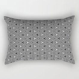 Ancient Triangles Black and White Rectangular Pillow