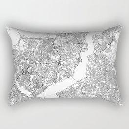 Istanbul White Map Rectangular Pillow