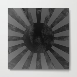 Black Japan Empire Flag Metal Print
