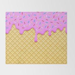 Strawberry Ice Cream Throw Blanket
