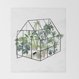 greenhouse with plants Decke