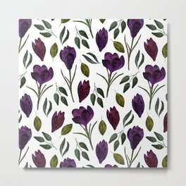 Plum Rose Garden Metal Print