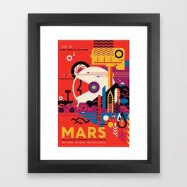 NASA Retro Space Travel Poster #9 Mars Framed Art Print