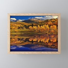 Autumn Mountain Landscape Framed Mini Art Print