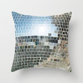 Mirrors discoball Throw Pillow