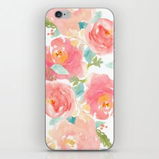Watercolor Peonies Summer Bouquet iPhone & iPod Skin