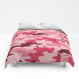 Camouflage Print Pattern - Pinks & Purples Comforters