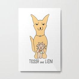 Tessa and Lion Metal Print