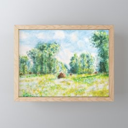 Spring in Giverny Monet Claude Framed Mini Art Print