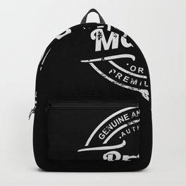 Best Project Manager retro vintage distressed logo Backpack