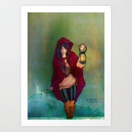 The Lantern Bearer Art Print