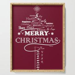 The Wishing Christmas Tree Serving Tray