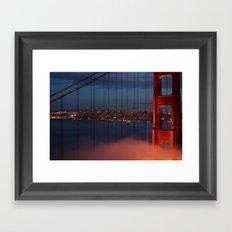 Bridge and City Framed Art Print