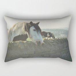 Horse in Whitby Rectangular Pillow