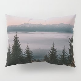 Faraway Mountains - Landscape and Nature Photography Pillow Sham