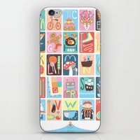 alphabet iPhone & iPod Skins featuring Alphabet by Emily Golden