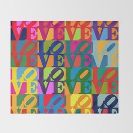 Love Pop Art Throw Blanket