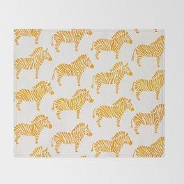 Zebras – Yellow Palette Throw Blanket
