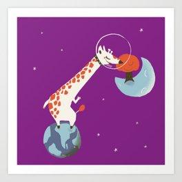 Space giraffe Art Print