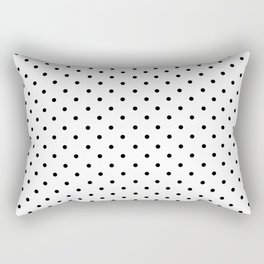 Minimal - Small black polka dots on white - Mix & Match with Simplicty of life Rectangular Pillow