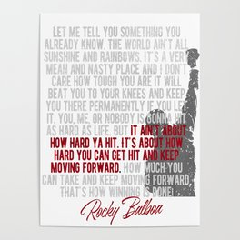 Boxing Motivation by Rocky Balboa Poster